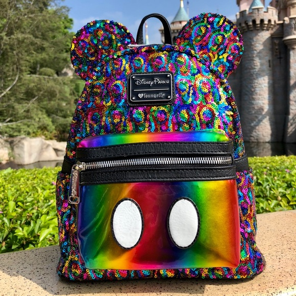 c1f57c1b09cd Mickey Rainbow Sequin Backpack by Loungefly